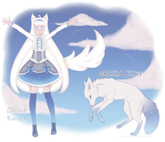 Adopt Auction - White Wolf (OPEN) by SweetKonata