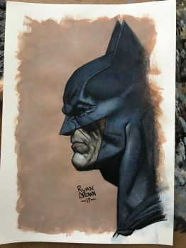 batman quick acrylic sketch by ryanbrown-colour