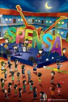 SMPN 1 Denpasar's Yearbook Cover by 124Hyudha