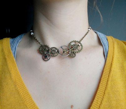 Steampunk necklace by Kenshart