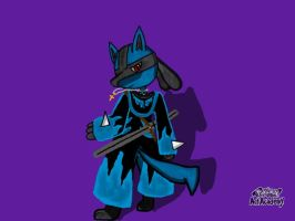 Xeta the Lucario (My OC) (Updated) by XetaJTS