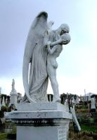 Cemetary statue by prudentia