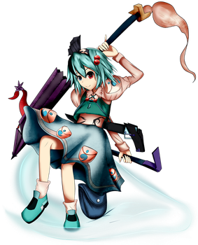 Touhou Fusion: Cool as a sliced cucumber, raining by chromatech