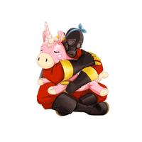Pyro and his Balloonicorn by Jacyll