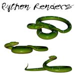 Green Python Render Pack by TexelGirl-Stock