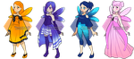 Adoptables - Butterfly Girls [OPEN] by Illusion-Noire