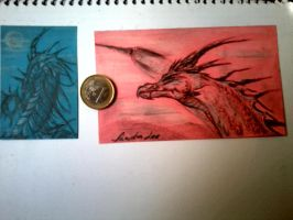 Dragons in Post-it by SandraLeeShadows