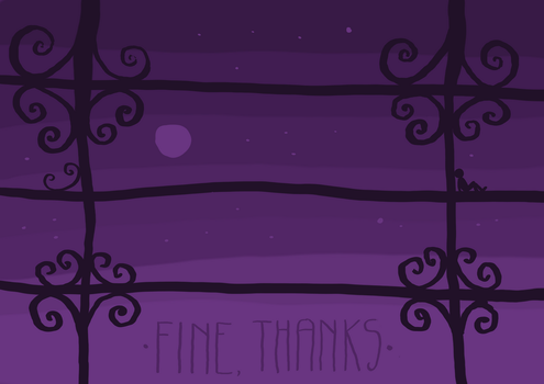 [two words] fine, thanks by GhitaBArt