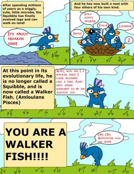 L e Spore Adventures. Page 8: Walker Fish. by thelakotanoid1