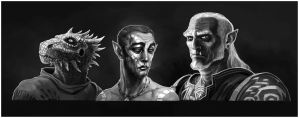The Elder Scrolls characters by coupleofkooks