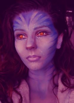 avatar makeup by MakeUpArtSteph