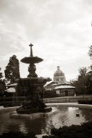Fountain and courthouse by imroy