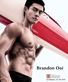 Canoeist Brandon Ooi by oldginger