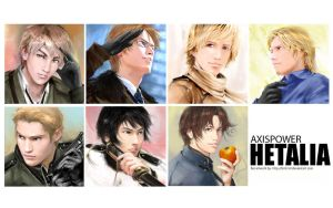 Hetalia:faces of the nations by Brilcrist