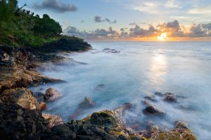 Tropical sunrise at Opihikao by kennedmh