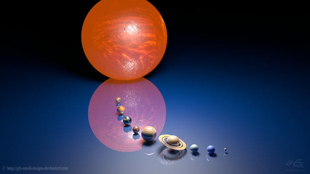 The Solar System Planetary 3D by gfx-micdi-designs