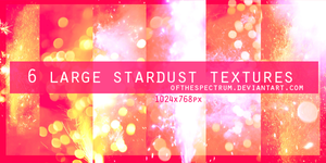 6 Large Stardust Textures by ofthespectrum