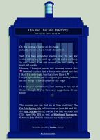 Tardis Journal by MyntKat