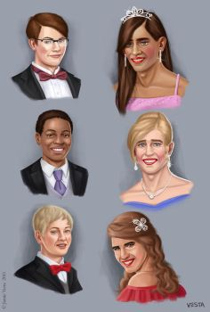 Six prom heads by Eves-Rib