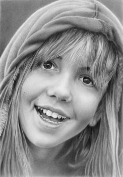 Pencil portrait of Angelika by LateStarter63