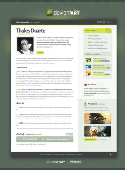Resume -  DeviantART by LordVenomTLD