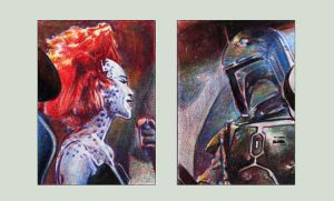 ROTJ Sketchcards: Boba Flirt by RobD4E