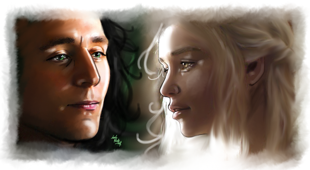 Loki and Sigyn by LadyMintLeaf