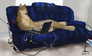 My Place - Commission by KeksWolf