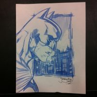 Batman in Blue SDCC 2011 by thejeremydale