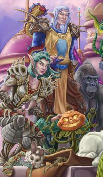 Detail 2 Warcraft friends by MBoulad