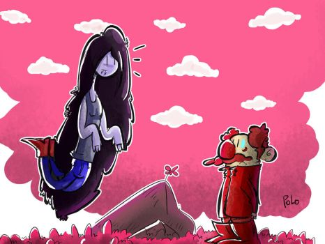 Lunch time for marceline- ADVENTURE TIME! by ThetinyPolo