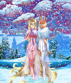 Gardienne's in the snow | Commission by Helemlove