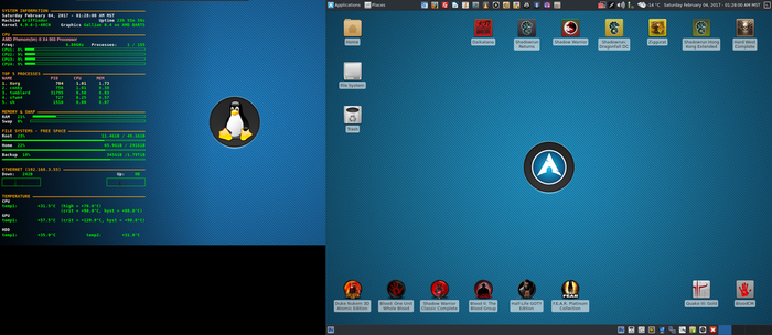February 2017 Desktop - Arch Linux and Xfce by hamishpaulwilson