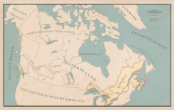 The Dominion of Canada at Confederation by xlander684