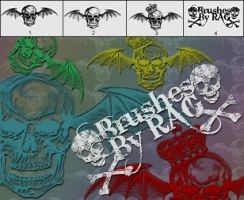 Deathbat Photoshop Brushes by RiseAboveGraphics