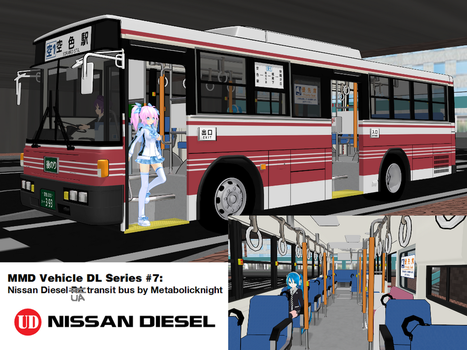 MMD Vehicle DL Series #7: 1990-2005 UD Route Bus by MichaelOKeefe1991