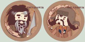 bifur and bofur buttons by resubee