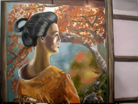 Geisha Painting by Lillian-hime