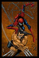 Spiderman and Wolverine Colors by likwidlead