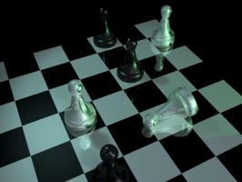 3D chess board by mozzzca