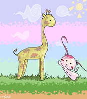 M.G. and Giraffe by mariehchan