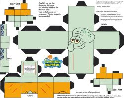 SS: Squidward Tentacles Cubee by TheFlyingDachshund
