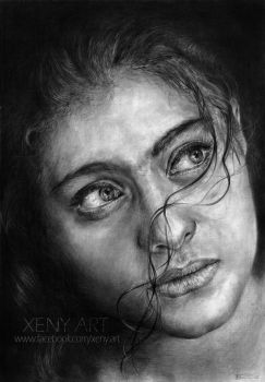 Portrait of an actress. Kajol. Bollywood by Xeny-art