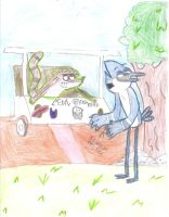 MORDECAI AND RIGBY NEW GOLF CART by Cokedark11