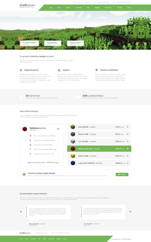Game hosting - Web design by Unbelievable13