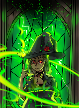 green witch by MikeruMorino