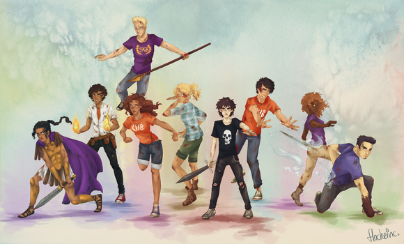 Heroes of Olympus Squad by FlockeInc
