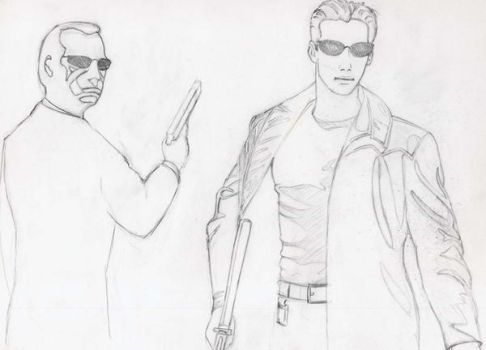 Neo and Agent Smith by plagosus