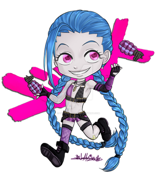 League of Chibis - Jinx by UkyoDragoon