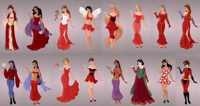 Animated Ladies  In Red by autumnrose83